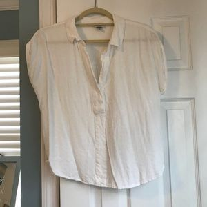 a new day white colored short sleeve blouse